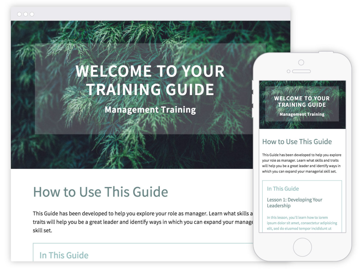 training guide template for self paced learning inkling